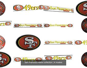 San Francisco 49ers collection 3D model