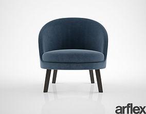 Arflex Jules armchair 3D