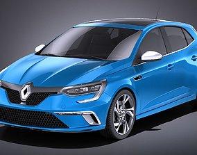 3D model Renault Megane GT 2016 VRAY