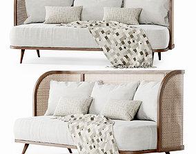 Three-seater garden sofa CV33 3D model