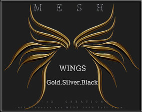 3D asset Wings 06