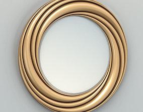 3D model Round mirror frame 004