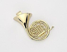 French Horn pendant 3D printable model