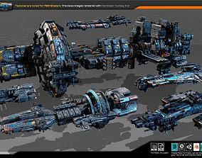 Spaceships Vol-02 3D model
