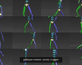 goalkeeper celebrate - penalty 3D