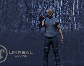 3D model Survivor Game Character ready for Unreal Engine 1