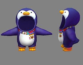 3D model Cartoon penguin costume