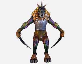 Game MMO RPG Character Insect Mutant 3d model game-ready