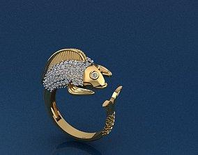 Fish Ring 3D printable model fishing