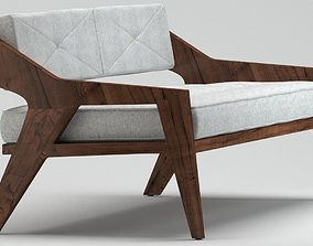 Outdoor wooden sofa 3D