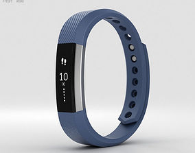 Fitbit Alta Blue-Silver 3D