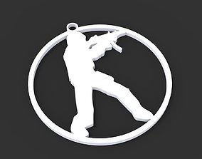 Counter Strike Logo Badge 3D printable model