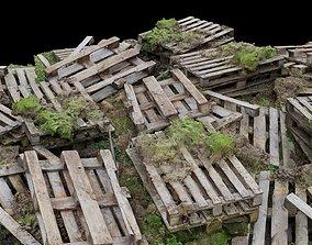 Wood Palette Debris Pile 3D asset