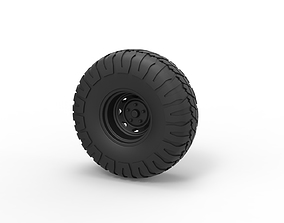 Diecast Offroad wheel 9 3D print model