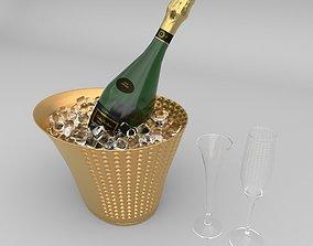 Nicolas Feuillatte Cuve Special Champage Bottle 3D