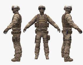 3D asset Soldier Support