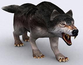animated 3DRT - Fantasy Animal Wolf