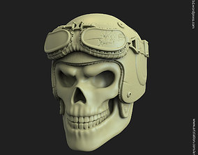 Biker helmet skull vol3 pendant 3D print model