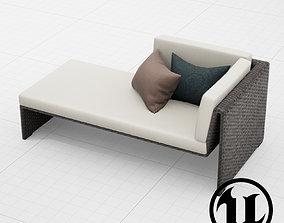 3D model Dedon Slimline Lounge 001 UE4