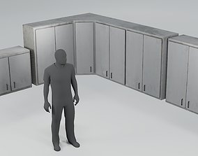 3D asset Used Kitchen Cupboards