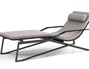 Holly Hunt Moray chaise lounge 3D
