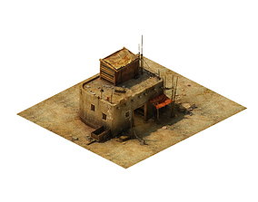3D Gobi Desert - Cottage Main House 01