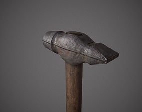 3D model Realistic Old Hammer
