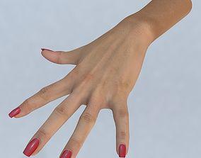 game-ready Hand 3d model left female