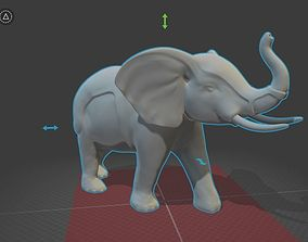 elephant model print ready