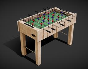3D model VR / AR ready Foosball Table
