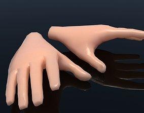 Cartoon Hand 3D model game-ready