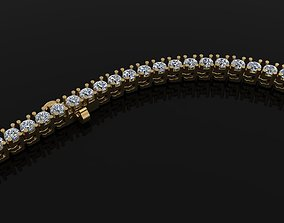 Diamond Tennis Necklace Links 2MM 3D print model