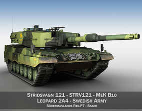 3D model Stridsvagn 121 - Mek B10 - Swedish Army