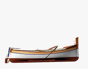 3D asset Fishing Motor Boat - Spanish