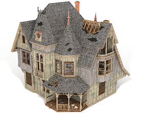 3D Destroyed Haunted House