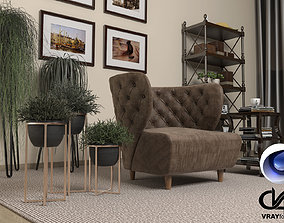 3D Living Room 08 VrayforC4D 3 60