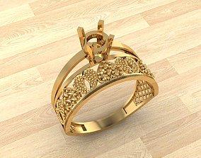 3D printable model diamond-ring RING 140