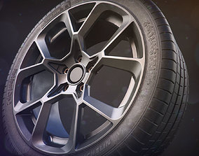 Realistic Car Tire - Michelin Sport Cup 2 3D