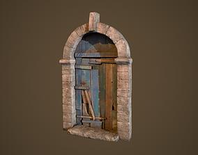 Old Door 3D asset low-poly