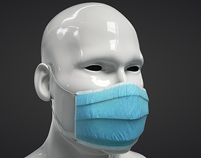 Medical Mask 3D model VR / AR ready PBR