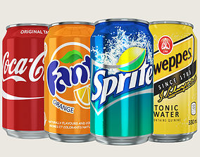 Soft Drink Can Collection 3D model
