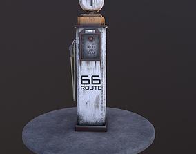 3D asset Low Poly Old Gas Pump