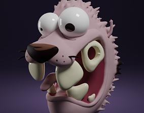 Courage the cowardly dog cartoon 3D printable model