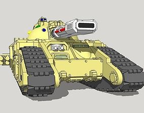 3D printable model 6mm Halberd Superheavy Sci-Fi Tank