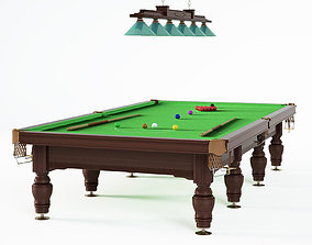 Snooker billiard table 3D model