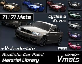 3D model VMATS Car Paint Material Library for Blender 2