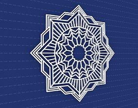 Mandala 3D architectural pattern