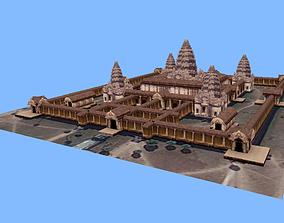 3D asset Angkor Wat monument Cambodia