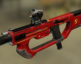 rigged Glock PDW kit A8 - firefighter - 3D