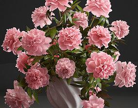 Bouquet pink Peonies 3D model